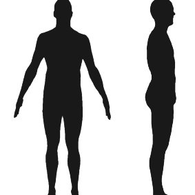 283x283 Fig. 1 Typical Silhouettes Casted By A Human Subject. Left Front