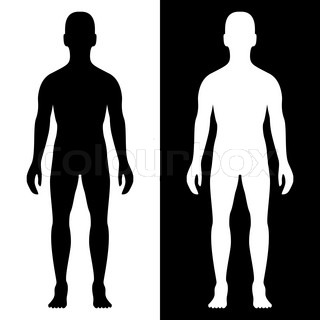 320x320 Human Body Silhouette With Arrows Stock Vector Colourbox