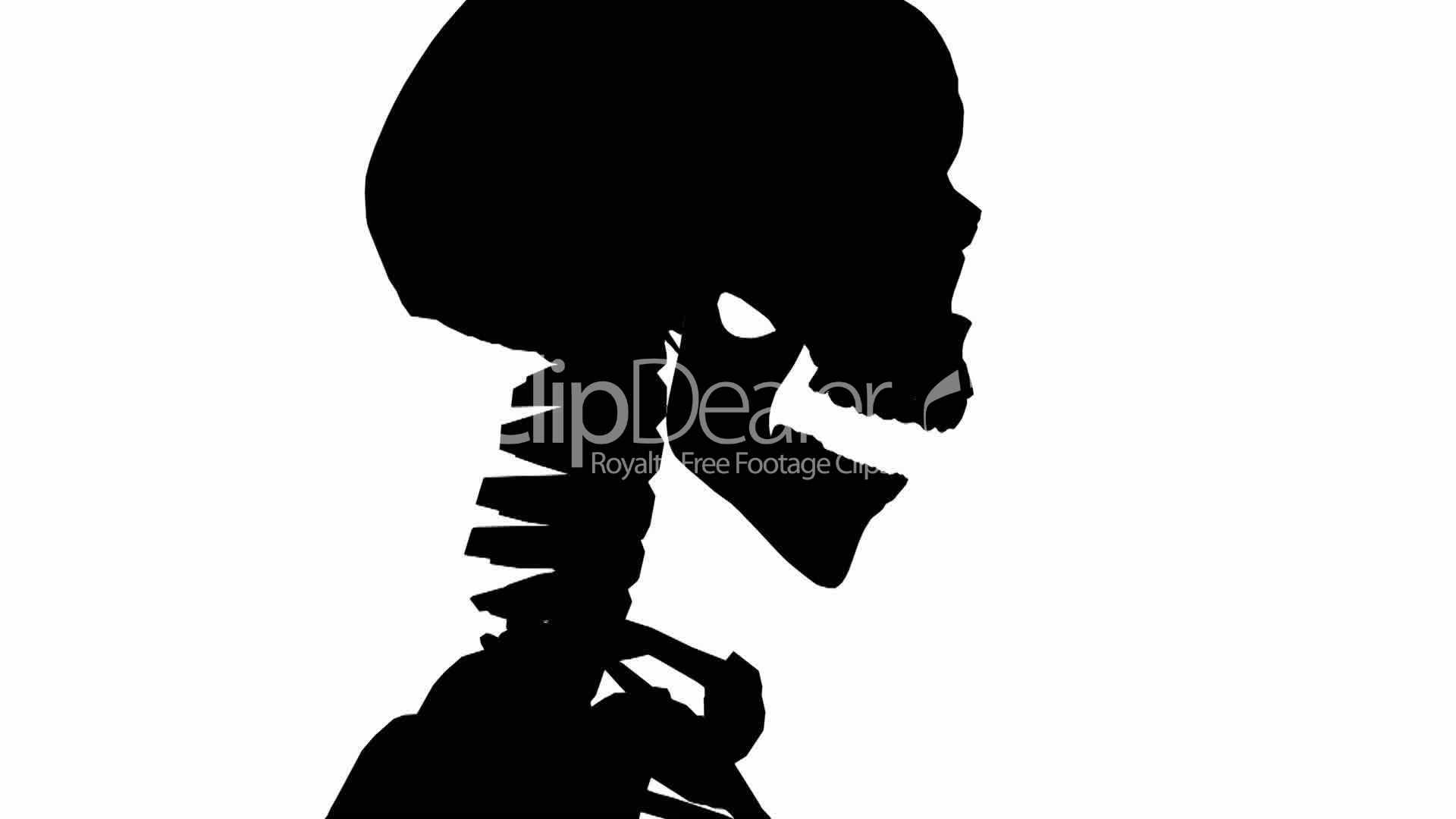 1920x1080 Moving Of 3d Skeleton.anatomy,human,medical,body,skull,biology
