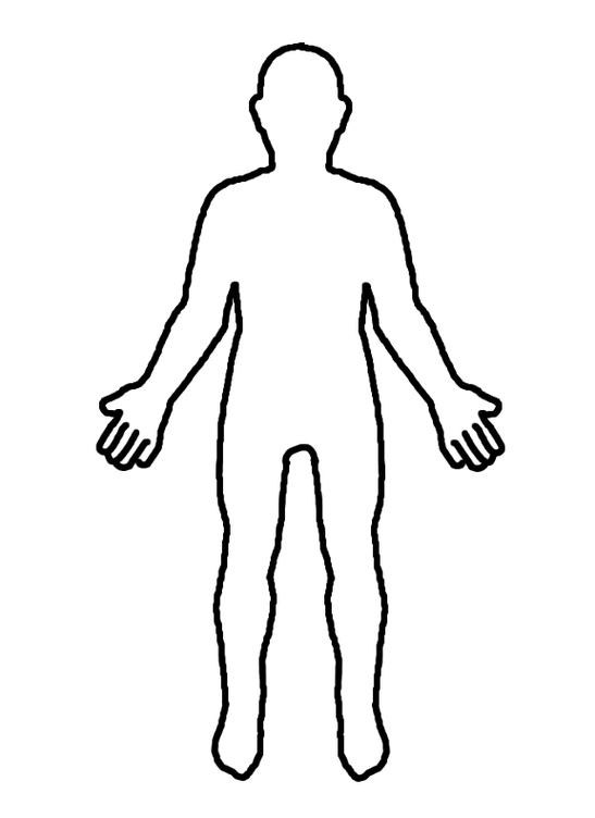Outline Human Body Diagram Forteforic