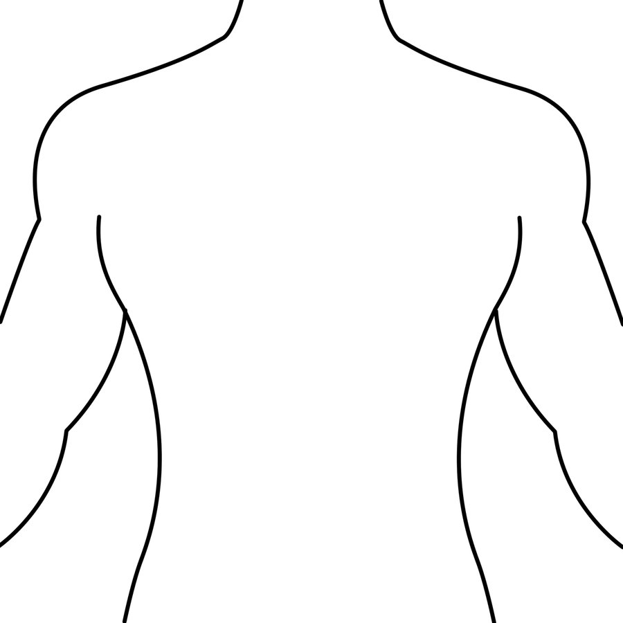 900x900 Human Body Outline Clipart