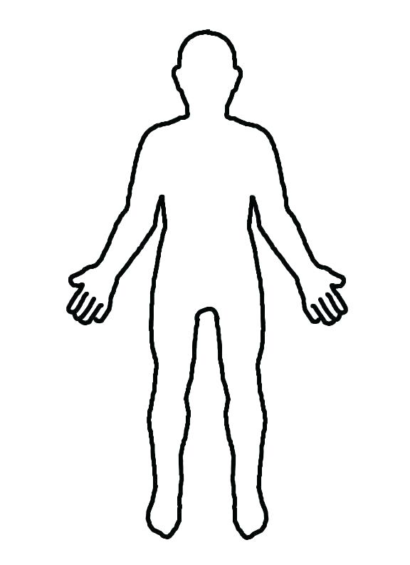 576x792 Royalty Free Vector Blank Human Body Outline Printable Heart Human