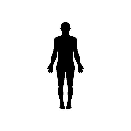 512x512 Standing Human Body Silhouette Free Icon Freebies!!!