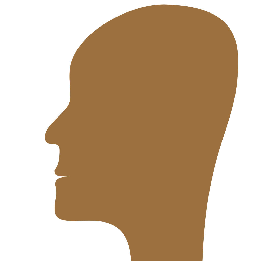 1024x1024 Filehuman Face Profile Icon.svg