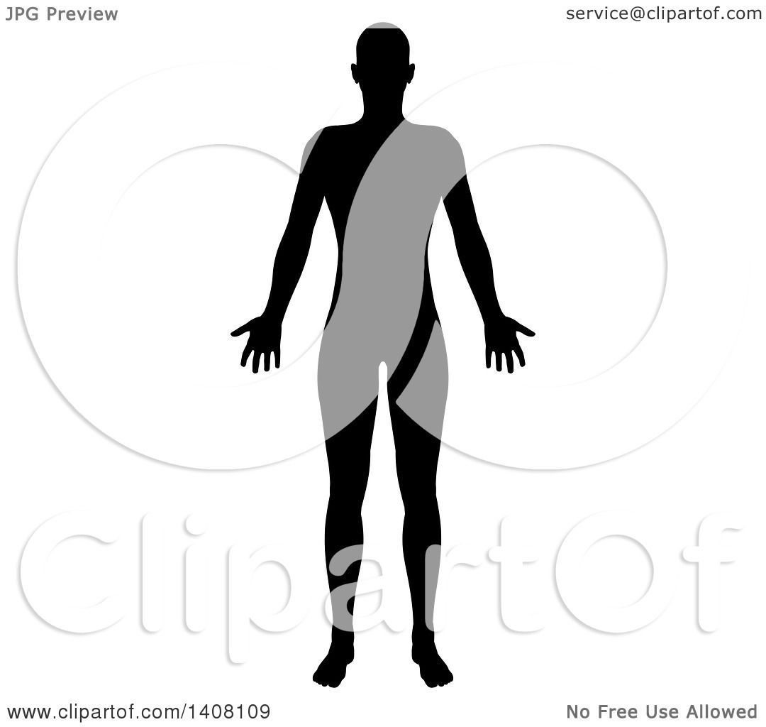 1080x1024 Clipart Of A Black Silhouetted Standing Human Figure