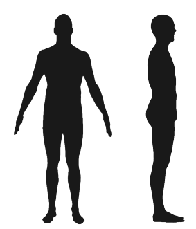 283x331 Fig. 1 Typical Silhouettes Casted By A Human Subject. Left Front