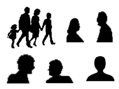 411x308 Figure 1 Silhouettes That Give The Perception The Presence