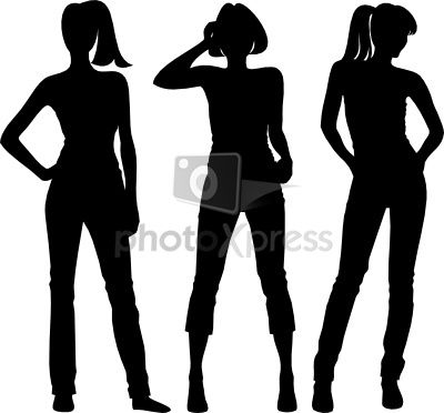 400x372 Human Figure Silhouette Body Silhouette Girl Stock Photo