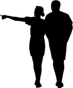 234x284 Human Figure Silhouette Clip Art