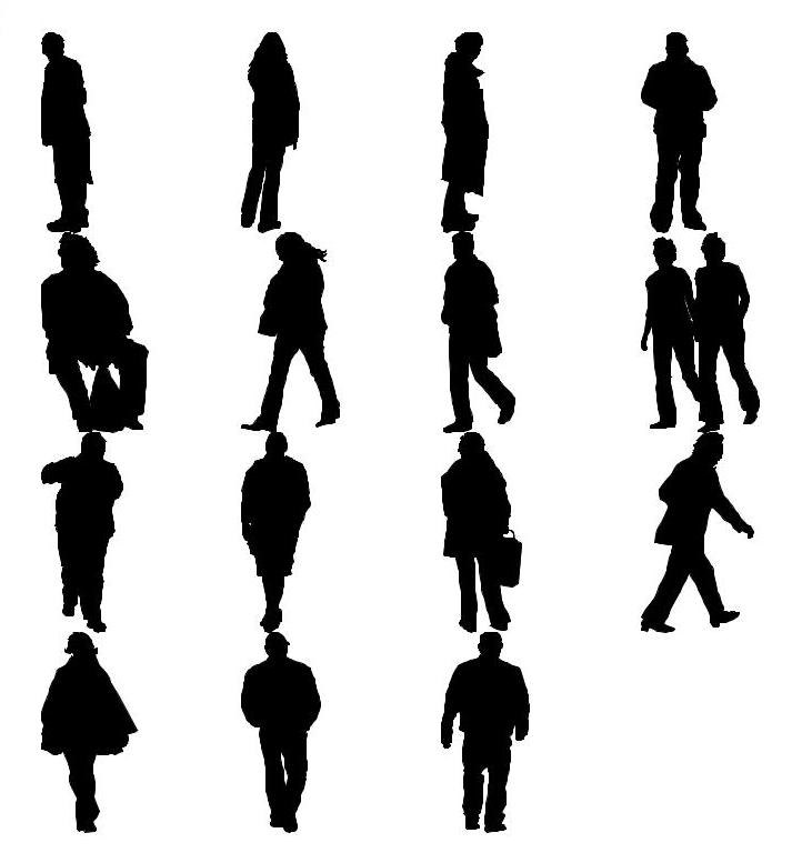 713x777 Shapes Other Silhouet Man People