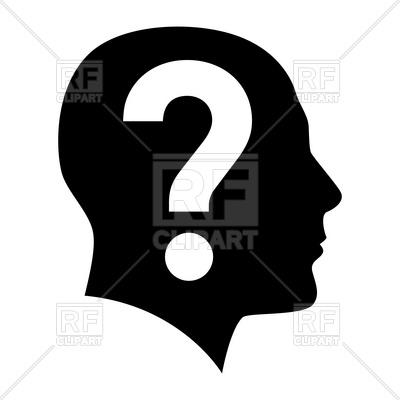 400x400 Human Head With Question Mark Inside Royalty Free Vector Clip Art