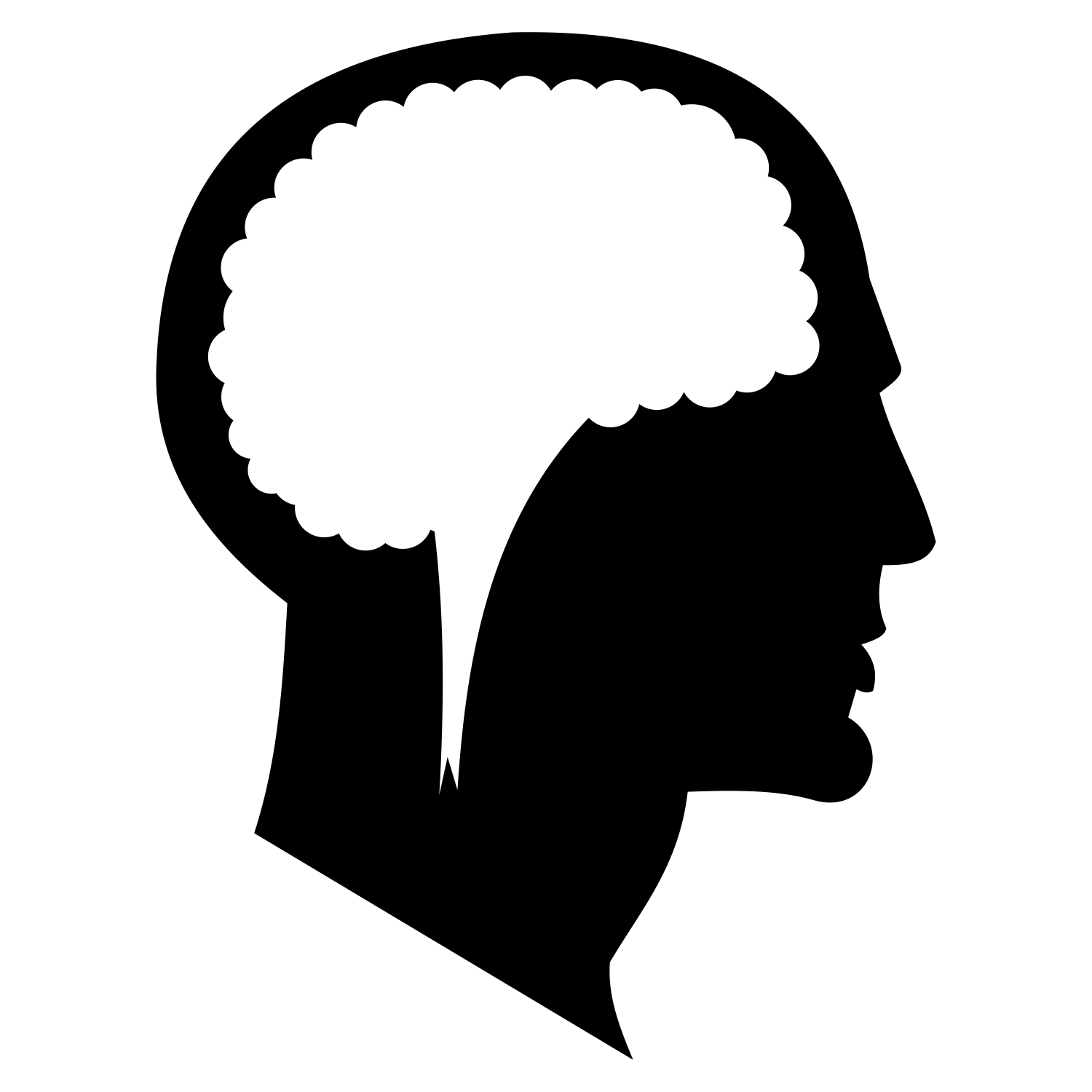 1500x1500 Vector For Free Use Man's Head Silhouette