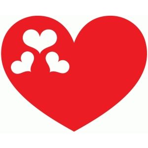 300x300 Hearts In Heart Silhouette Design, Silhouettes And Store
