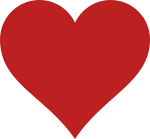 298x276 Red Heart Clip Art