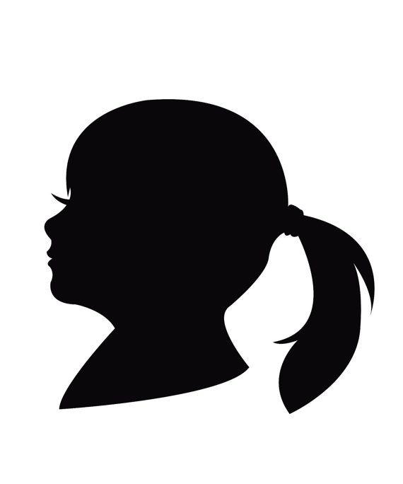 570x684 Face Profile Silhouette Vector