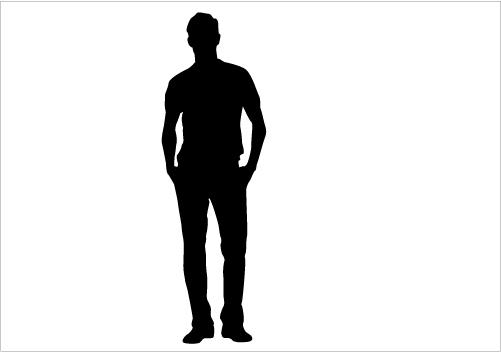 501x352 Man Profile Silhouette Clipart