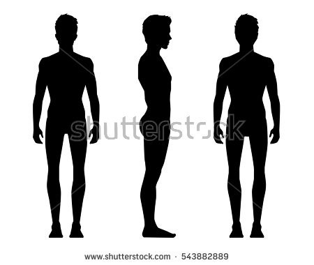 450x380 Profile Clipart Man Side View