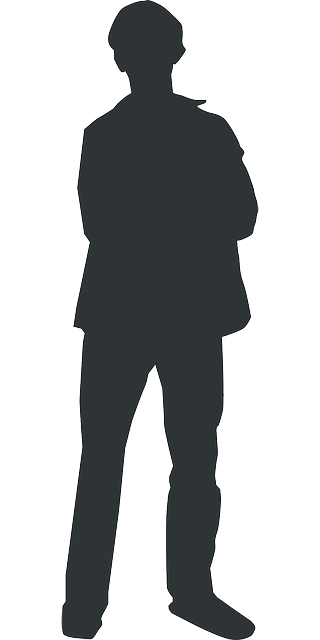 320x640 Outline, Man, Silhouette, Person, Human, Standing