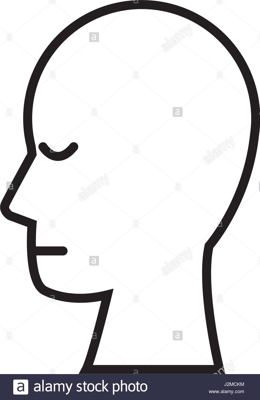 903x1390 Silhouette Head Human People Image Outline Stock Vector Art