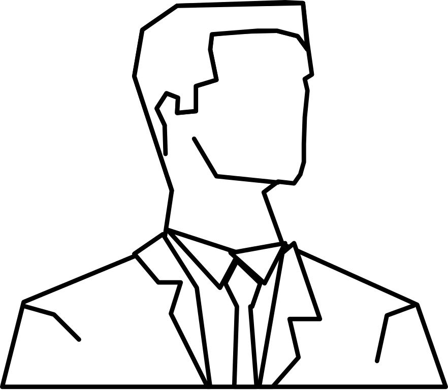 882x768 Filesilhouette Man Front Outline Bw.svg