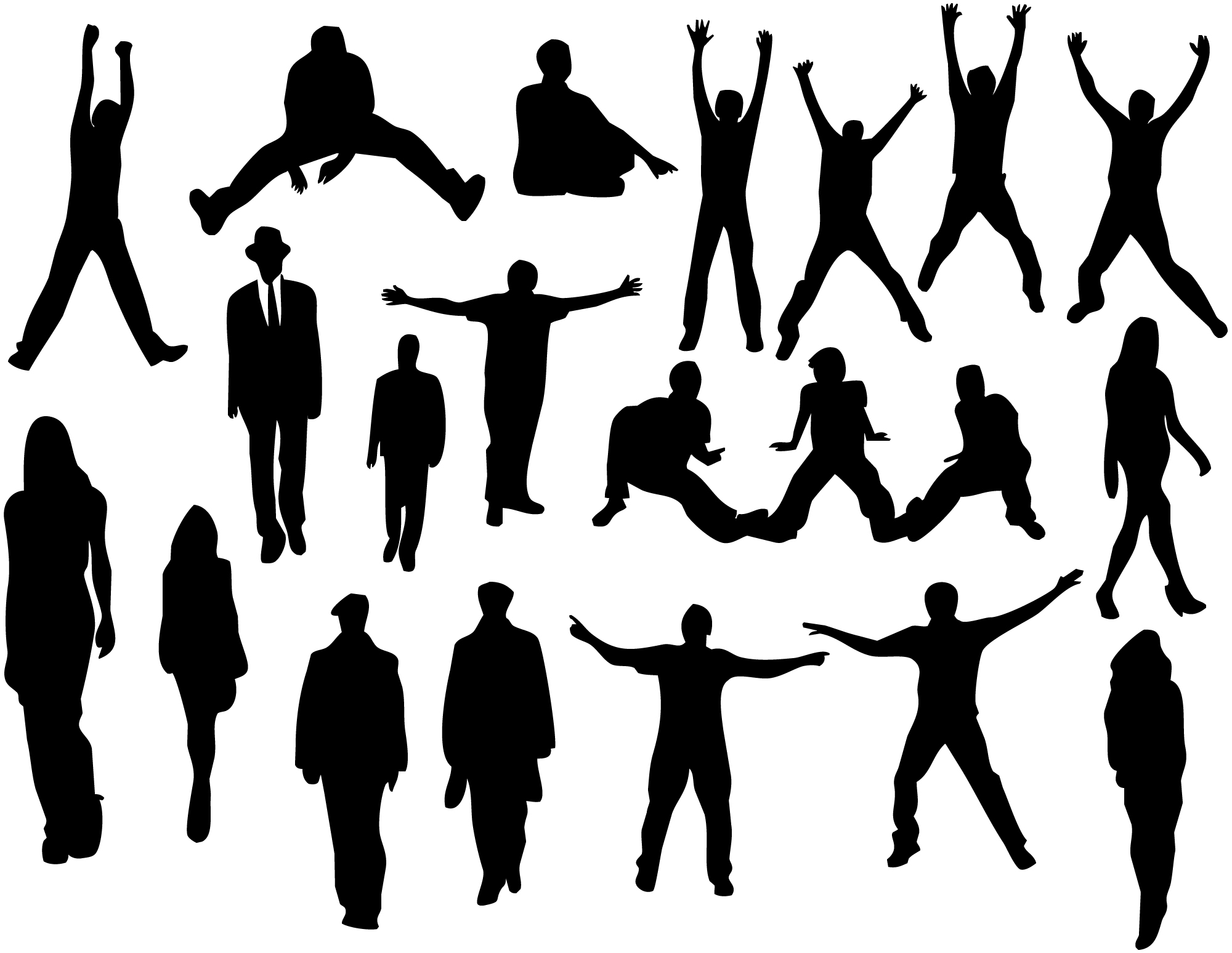 2000x1548 People Silhouettes By On @