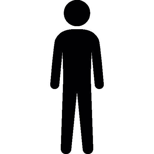 512x512 Man Silhouette, Male, Male Silhouette, Side View, Guy, Man Icon