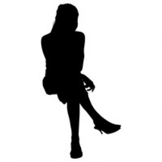 Human Silhouette Sitting