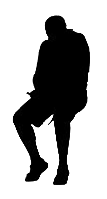 348x648 Man Sitting Silhouette Architecture Material Sources