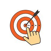 170x170 Human Silhouette Target Unknown Person Premium Clipart