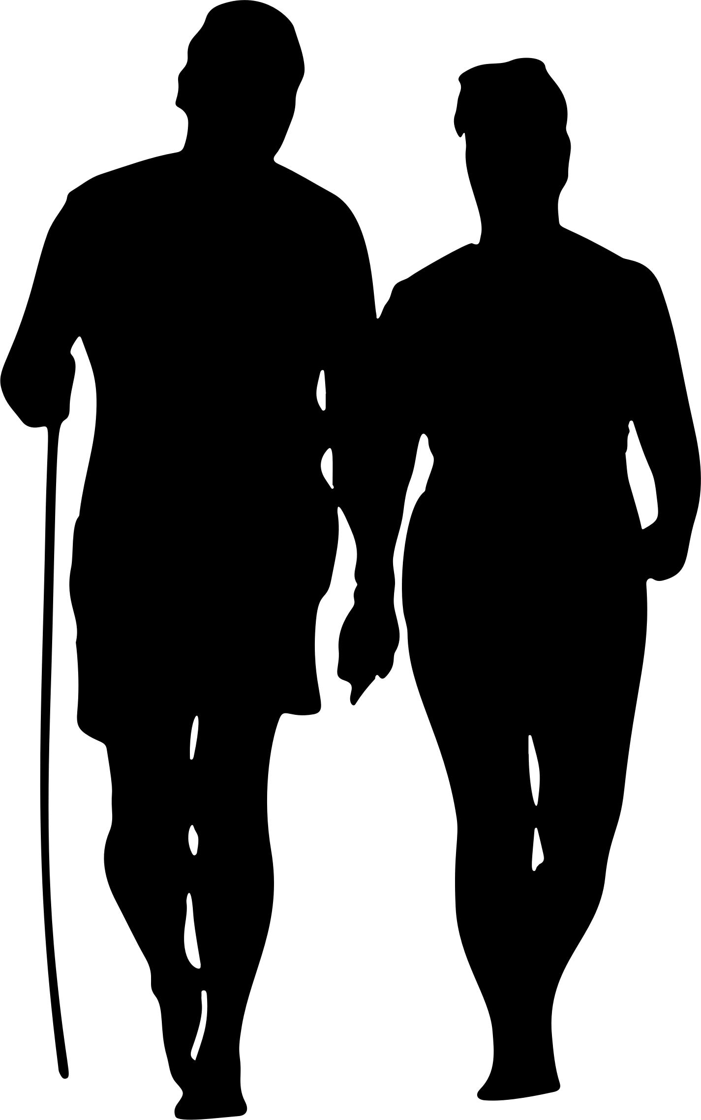 1425x2275 Couple Walking On Beach Silhouette Icons Png