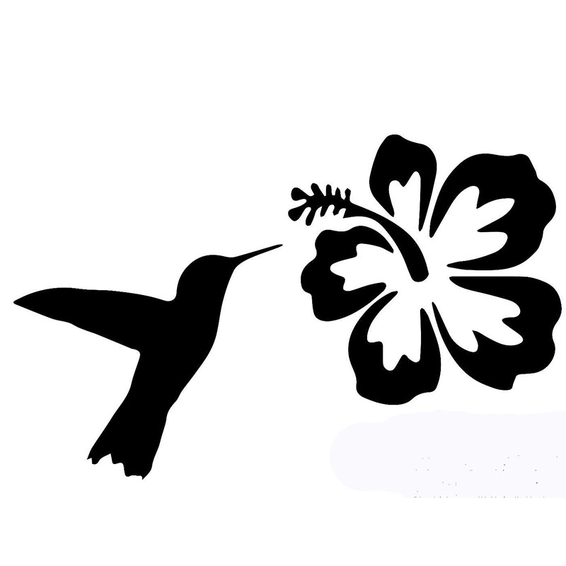 800x800 58cm X 29cm 2 X Hummingbird Hibiscus Flower Funny Graphical(One