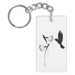 307x307 Hummingbird Flowers Silhouette Gifts Amp Gift Ideas Zazzle Uk