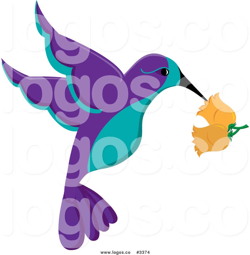 1024x1044 Royalty Free Vector Of A Purple And Turquoise Hummingbird