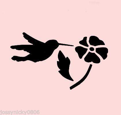 420x401 Hummingbird Stencil Bird Birds Flower Flowers Craft Stencils