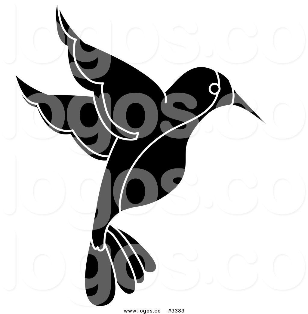 1024x1044 Royalty Free Vector Of A Black And White Hummingbird Logo By Pams