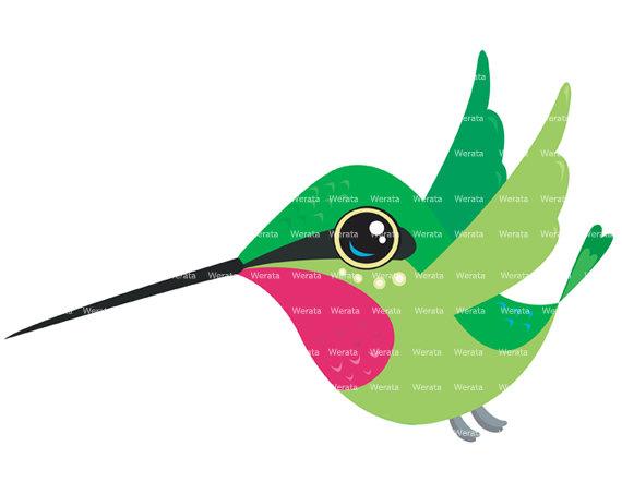 Hummingbird Silhouette Clip Art