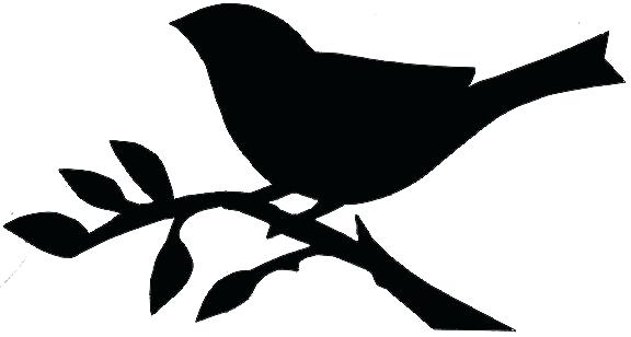 576x308 Hummingbird Tattoo Outlines Three Magpie Birds In Black Outline