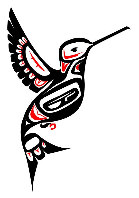 571x813 Totem Pole Clipart Hummingbird