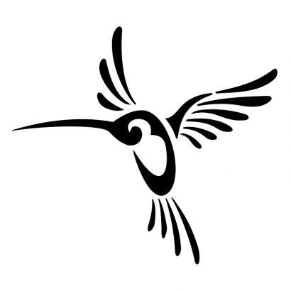 410x410 Tribal Clipart Hummingbird