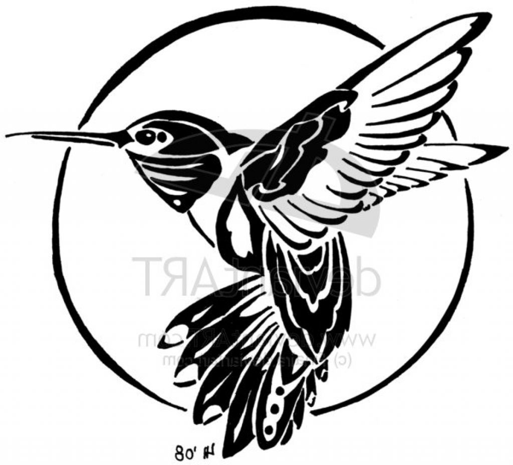 Hummingbird Silhouette Tattoo