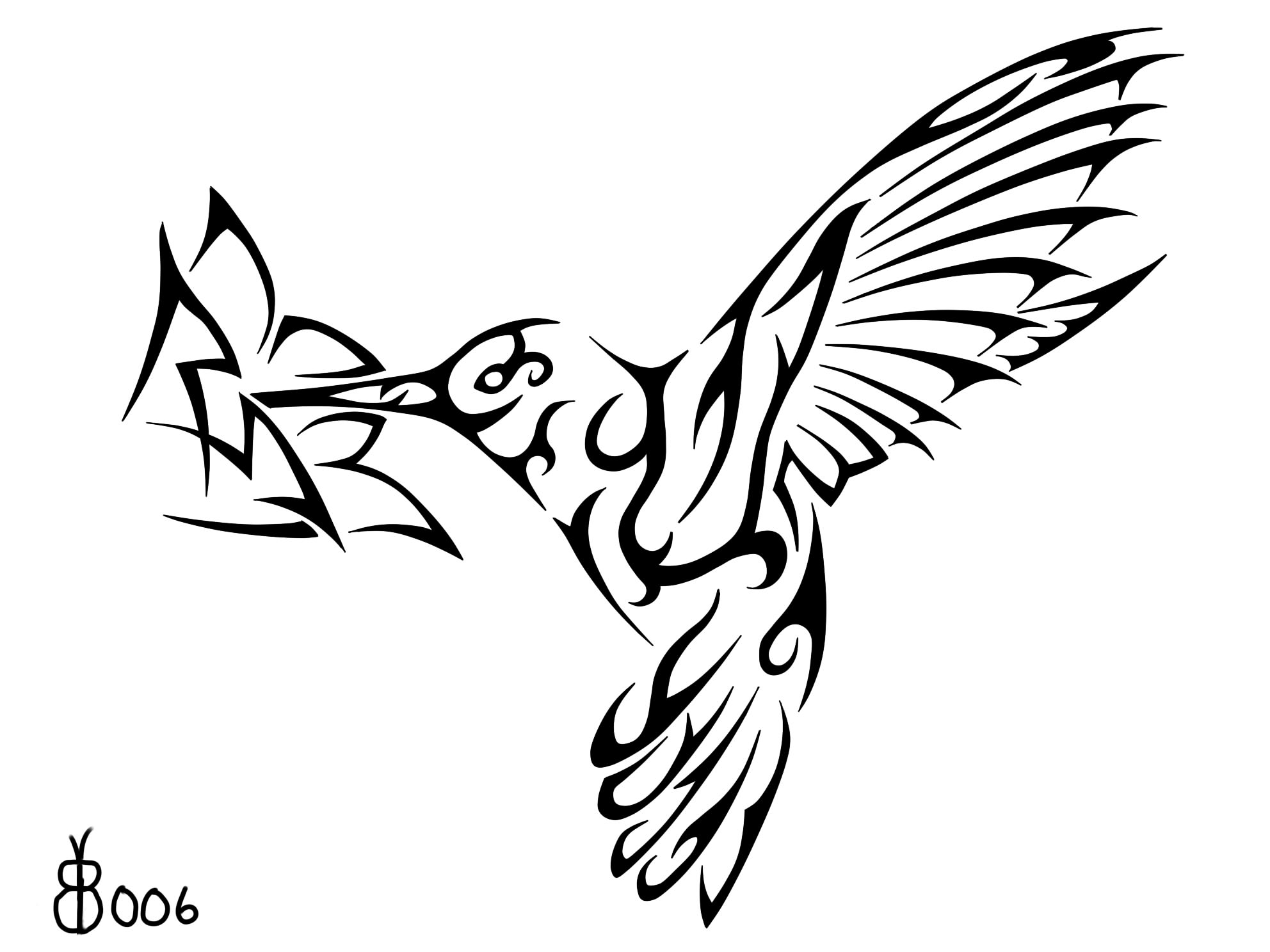 1984x1488 Tribal Clipart Hummingbird