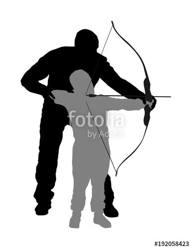 387x500 Archer Vector Silhouette Illustration Isolated On White Background