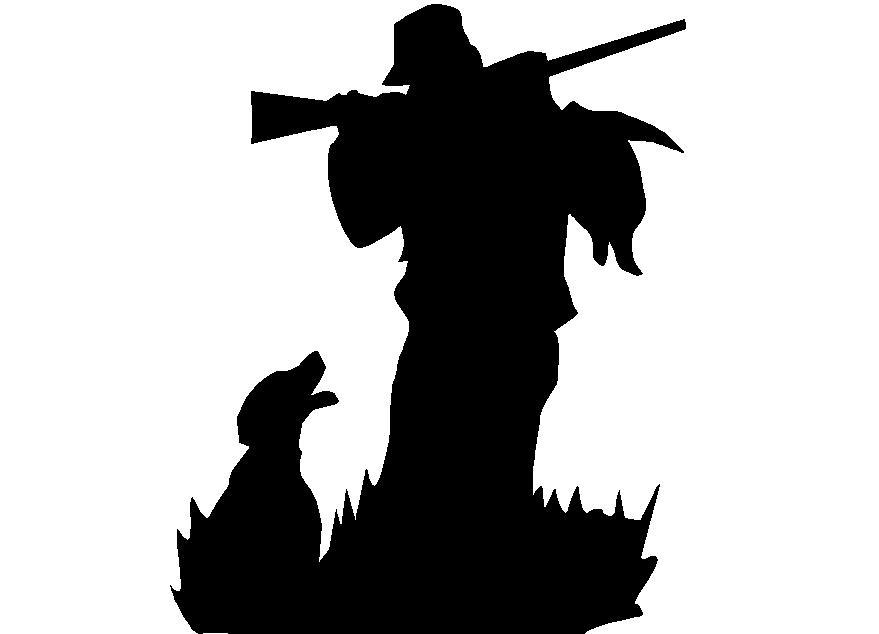 879x634 Shadow Clipart Hunting Dog 3893755