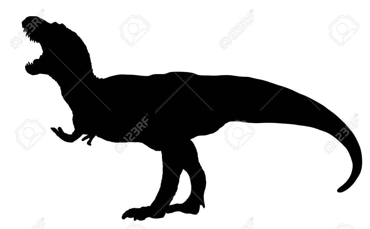 1300x806 Dinosaur Predator Hunter T Rex Raptor Silhouette Vector Clipart