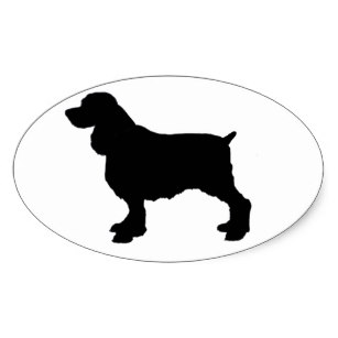 307x307 Hunting Dog Silhouette Stickers Zazzle