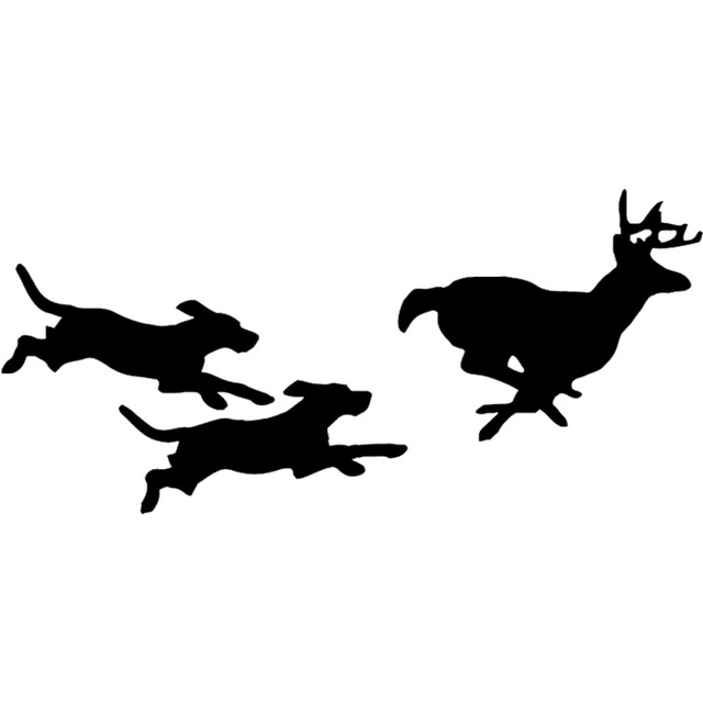 640x640 25.411.7cm Hunting Dogs Chasing Deer Vinyl Decal Creative Car