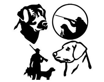 340x270 Duck Hunting Dog Lab Silhouette Svg Dxf File Instant Download