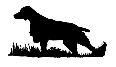 463x267 Brittany Silhouette, Bird Dog Upland Hunting Decal