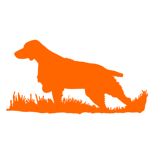 530x530 Brittany Bird Dog Silhouette, Upland Hunting Decal Modern Wild