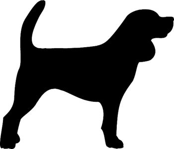 350x300 Hunting Dog Silhouette Decal. Customized Online. 1401 Vinyl